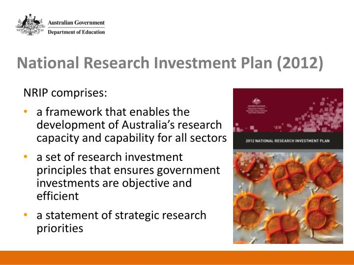 National Research Investment Plan (2012