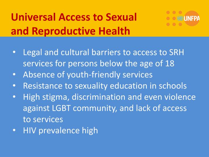 Universal Access to Sexual and Reproductive Health