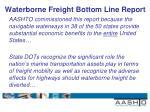 waterborne freight bottom line report