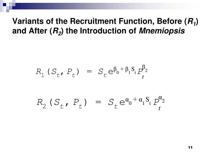 Variants of the Recruitment Function, Before (