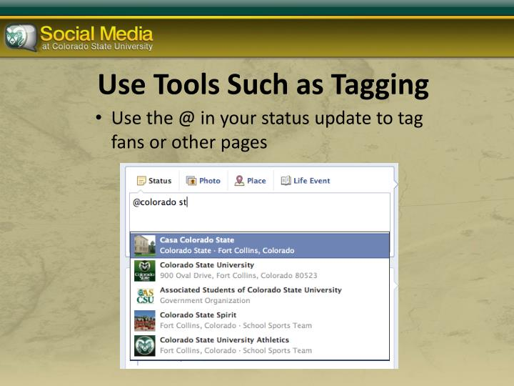 Use Tools Such as Tagging