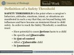 definition of a safety threshold