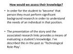 how would we assess their knowledge