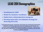 lead 2011 demographics