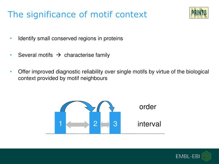 The significance of motif context