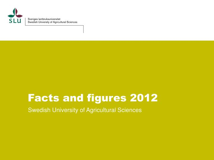 facts and figures 2012 n.