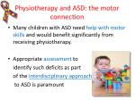 physiotherapy and asd the motor connection