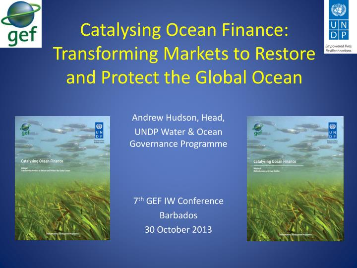 catalysing ocean finance transforming markets to restore and protect the global ocean n.