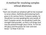 a method for resolving complex ethical dilemmas3