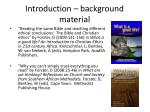 introduction background material