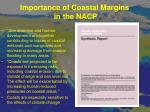 importance of coastal margins in the nacp5