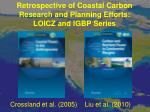 retrospective of coastal carbon research and planning efforts loicz and igbp series