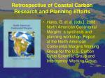 retrospective of coastal carbon research and planning efforts1