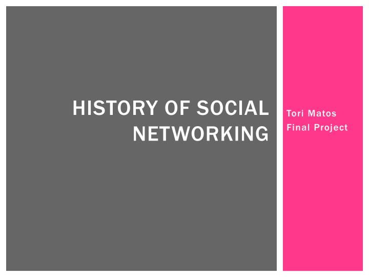 history of social networking n.
