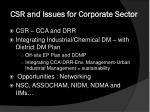 csr and issues for corporate sector