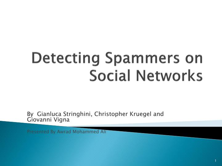 detecting spammers on social networks n.