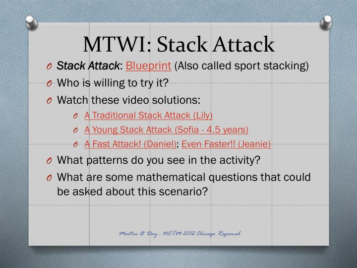 MTWI: Stack Attack