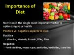 importance of diet