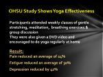 ohsu study shows yoga effectiveness