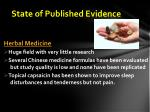 state of published evidence2
