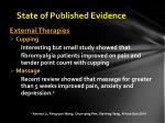 state of published evidence5