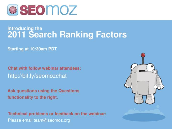 introducing the 2011 search ranking factors n.