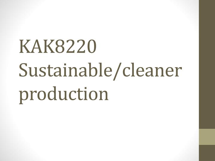 kak8220 sustainable cleaner production n.
