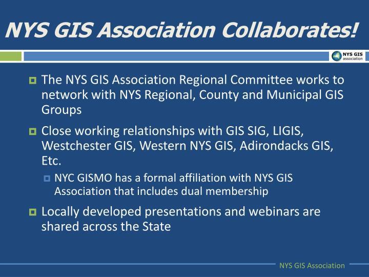NYS GIS Association Collaborates!