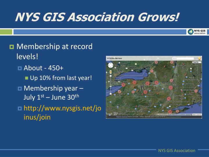 NYS GIS Association Grows!