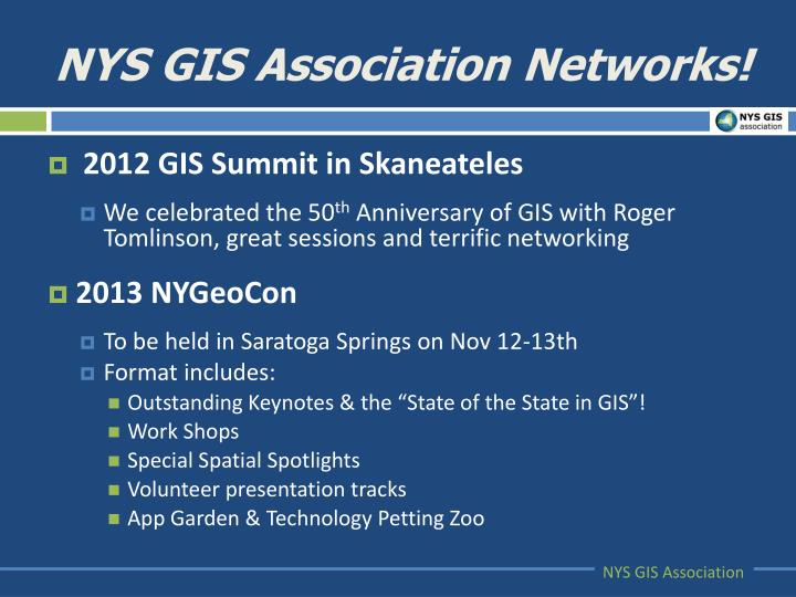 NYS GIS Association Networks!