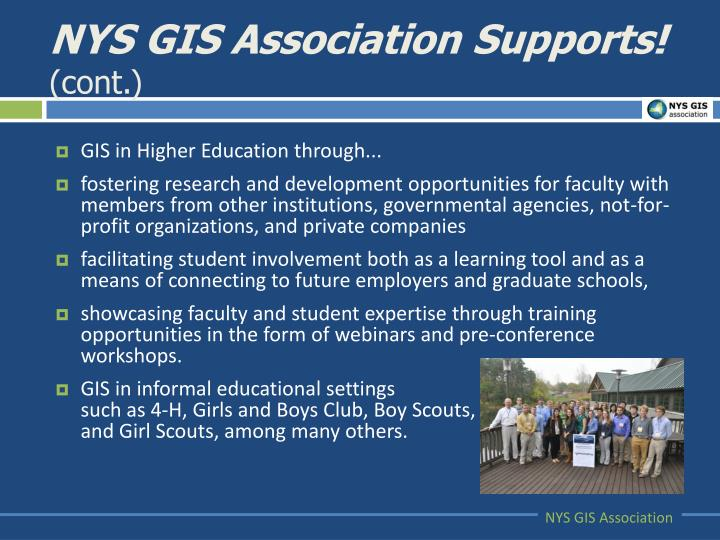 NYS GIS Association Supports