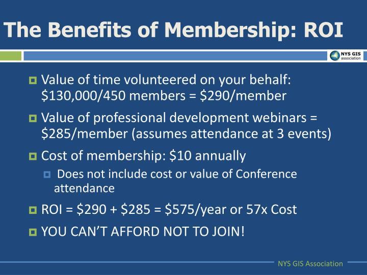 The Benefits of Membership: ROI