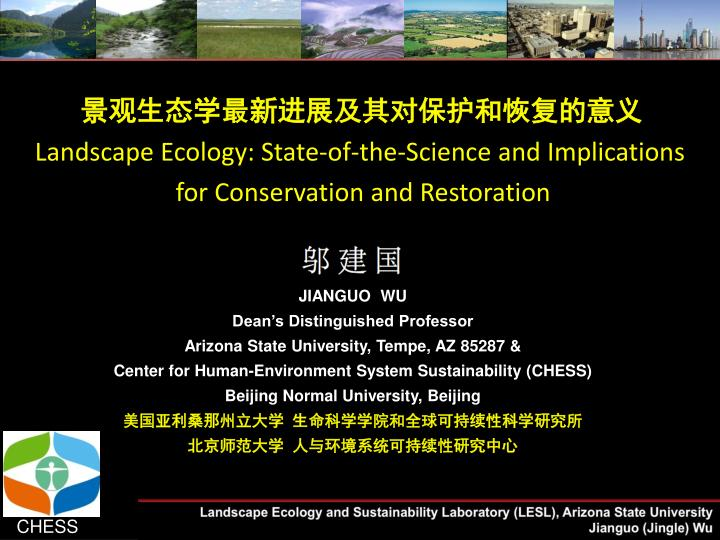 landscape ecology state of the science and implications for conservation and restoration n.