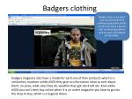 badgers clothing