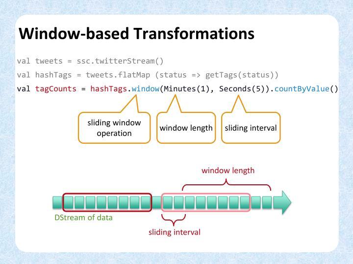 Window-based Transformations