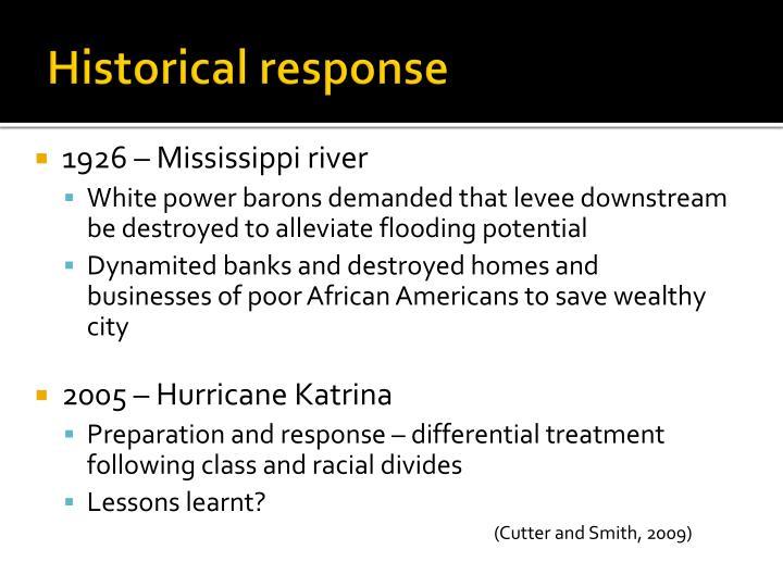 Historical response