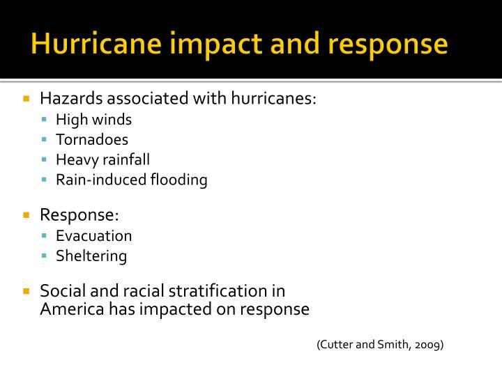 Hurricane impact and response