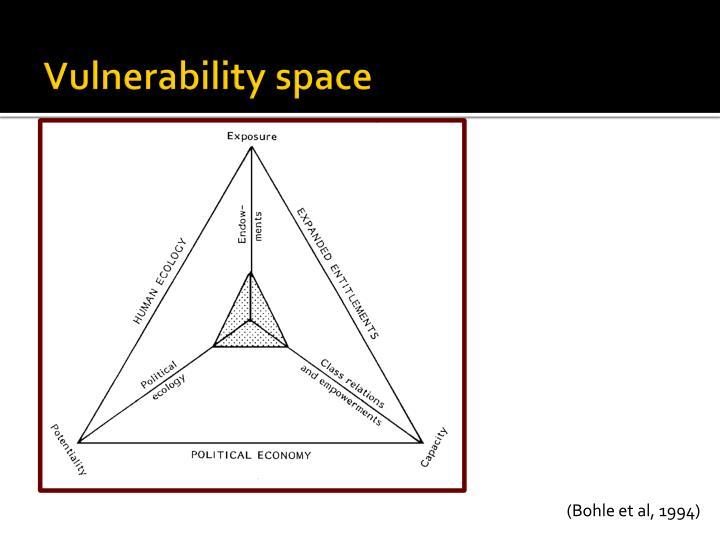 Vulnerability space