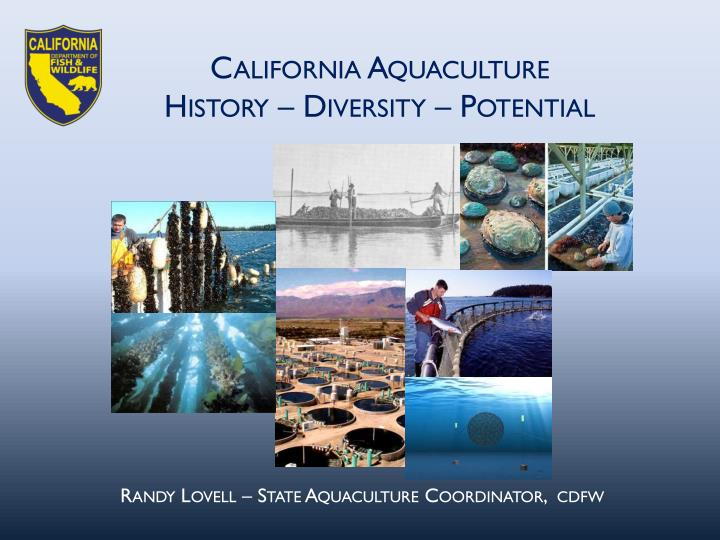 California Aquaculture