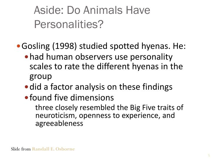 Aside: Do Animals Have Personalities?