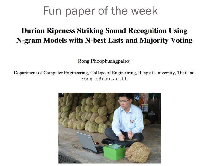 Fun paper of the week