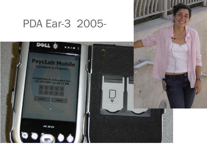 PDA Ear-3  2005-