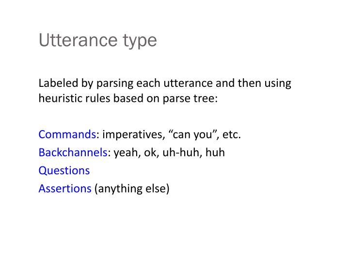 Utterance type