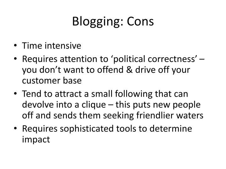 Blogging: Cons