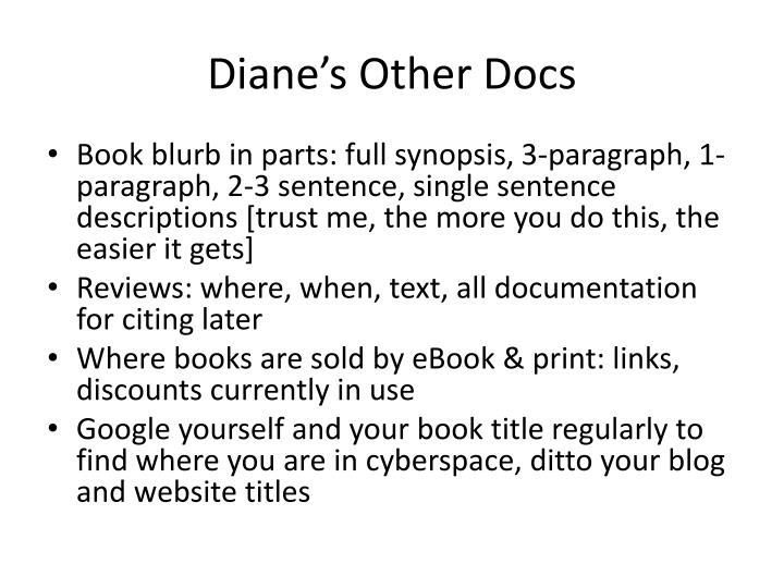 Diane's Other Docs