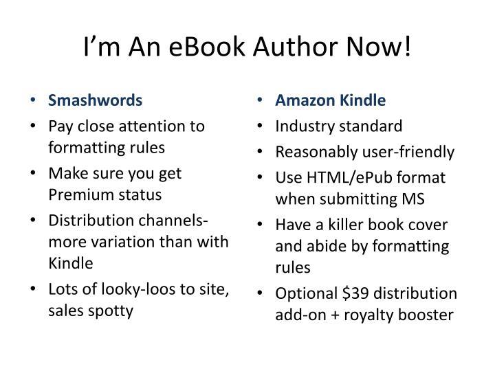 I'm An eBook Author Now!