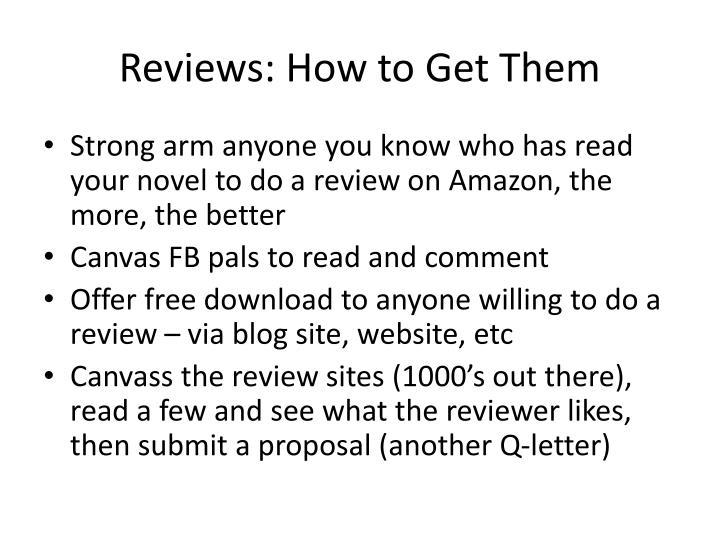 Reviews: How to Get Them