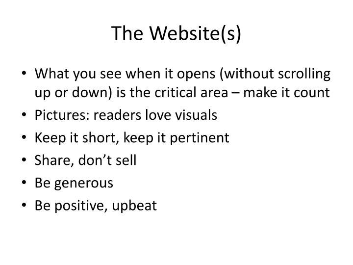 The Website(s)