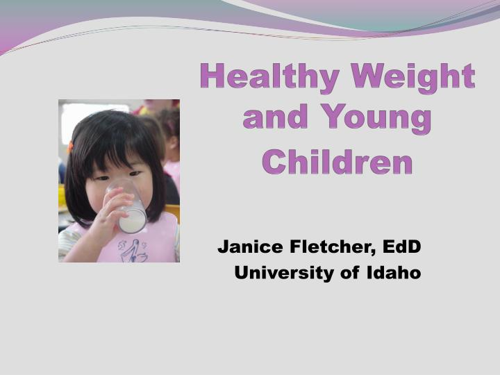 healthy weight and young children n.