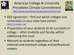 american college university presidents climate commitment http www presidentsclimatecommitment org